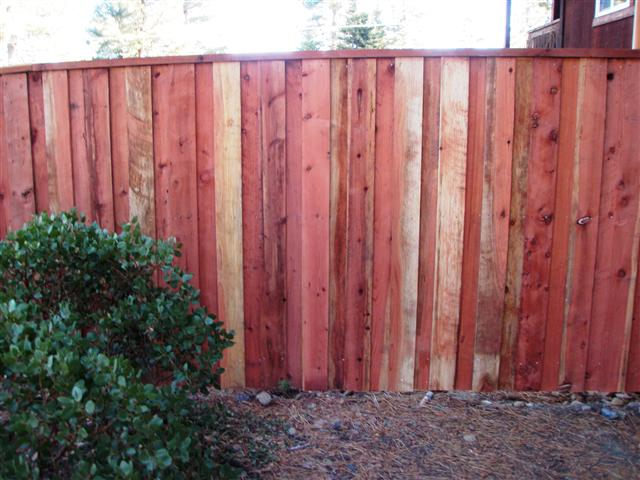6ft Redwood Privacy Fence With 4ft X 4ft Post 3 Rails Cap